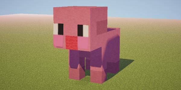 Pixel art cochon - Minecraft cochon ...